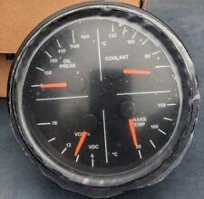 """New Spartan 1524-NN1-801011 5""""  4n1 Oil Pressure-Coolant-Volts-Trans temp gauge"""