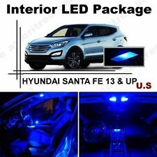 Blue LED Lights Interior Package Kit for Hyundai Santa Fe 2013-2014 ( 9 Pieces )