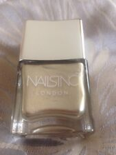 Nails Inc Let Your Hair Down A Light Gold Metallic Chrome Shade 14ml Full Size