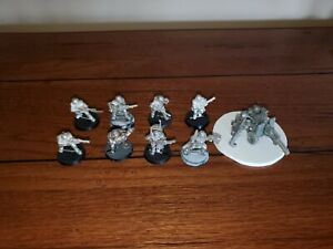 Warhammer 40k Astra Militarum Cadian Guardsmen Squad 4 Metal, OOP & 2nd Edition