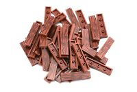 REDDISH BROWN 1X4 Tile with Wood Grain Floor Board X25 by TCM Compatible Bricks