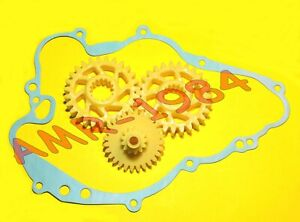 INGRANAGGI CONTROALBERO + POMPA OLIO APRILIA RS 125 - ROTAX 122  0234431 0634035