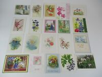 23x FLORAL GREETING CARDS SOME VINTAGE VARIOUS OCCASIONS UNUSED WITH ENVELOPES