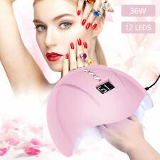 36W 12Leds USB Nail Lamp UV Nail Gel Fast Dryer Curing Polish Predicure Sensor
