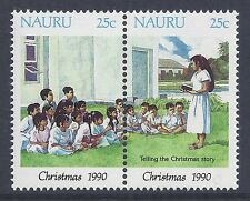 1990 NAURU CHRISTMAS SET OF 2  FINE MINT MUH/MNH