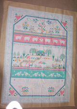 Vintage decorative fabric panel