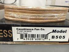 "CASABLANCA B505 21"" Light Oak Badge-Style Blades NEW (Set of 5)"