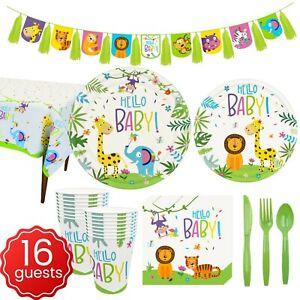 Hello baby Tableware Jungle Animal Dinnerware Birthday Party Supplies Deco cup