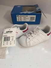 Adidas Originals Stan Smith Crib Shoes Baby Infant Girls Trainers Size 4k NwB