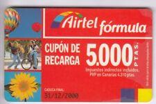 Europe telecarte/phonecard... spain 5.000p airtel velo ball + no 12/00
