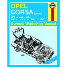 Opel Corsa Haynes Manual 1983-93 1.0 1.2 1.3 1.4 1.6 Petrol Workshop