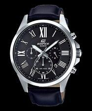 EFV-500L-1A Black Men's Watches Casio Edifice Chronograph 100m World time New