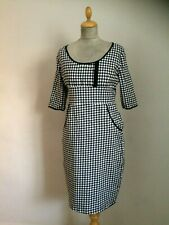 Gingham Pencil Dress Wiggle Rockabilly Pinup Size 14  By Lindy Bop