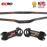 EC90 Carbon Fiber Handlebar 31.8*680-760mm Stem 6/17° 60-120mm MTB Bike Bar Sets