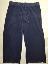 Juicy Couture Women Pants Capri Dark Blue Medium