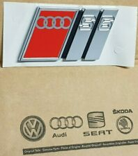 Audi A6 original S6 Logo Clip Schriftzug Emblem Aufkleber hinten Heckklappe