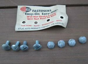 Vintage NOS License Plate Attaching Screws Real Deal 1960's Factory Applications