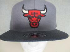 New Chicago Bulls Mens Mitchell & Ness Hi Crown Fitted Size 8 Flatbrim Hat $32