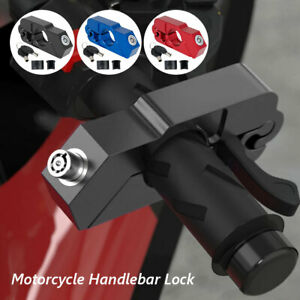 Universal Motorcycle Brake Throttle Grip Scooter Handlebar Anti Theft Locks