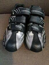 Northwave Revenge Carbon Mens Road Cycling Shoes sz 43 10.5 Black Silver