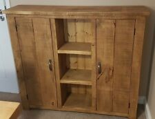 NEW SOLID  RUSTIC CHUNKY WOOD SIDEBOARD  WOODEN STORAGE CUPBOARD MADE TO MEASURE