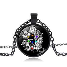 UNDERTALE  Cabochon  Glass Chain Pendant Necklace     DD   595