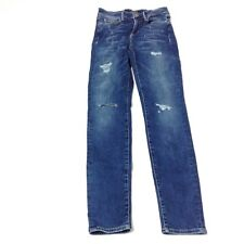 Guess Jeans 1981 Skinny High Stretch Dark Wash Size US 25 Distressed Destroyed