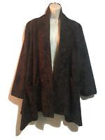 MONACCO ART TO WEAR UK 16 OS Duster Overcoat Quirky Blazer Coat Jacket Lagenlook