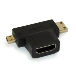HDMI Female to Micro and Mini HDMI Male Dual Adapter