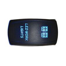 Waterproof Rocker Toggle Switch Blue LED Work Light 12V 20A Car 5Pin Sales