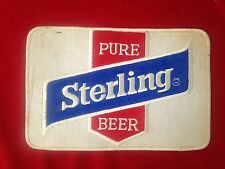 Lg. Vintage Sterling Beer Patch