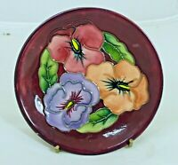 Beautiful Moorcroft 'Palmata' Pattern Coaster/Pin Dish! Made in England!