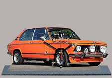 VOITURE , BMW 2002 tii ALPINA Orange-03  en HORLOGE MINIATURE