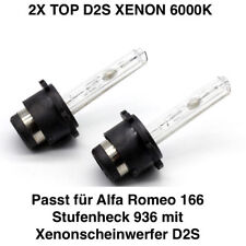 2x D2S 6000K 35w Xenon Alfa Romeo 166 Stufenheck 936