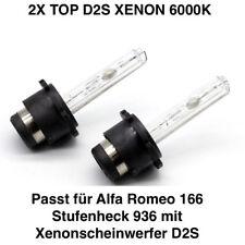 2x d2s 6000k 35w XENON TÜV LIBERO ALFA ROMEO 166 BERLINA 936
