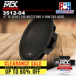 """MTX 3512-04 12"""" 35 Series 250 Watts RMS 4-Ohm Car Audio Subwoofer"""