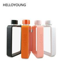 Portable Flat Sport Drinking Bottle Crystal Plastic Water Bottle Handy Drinkware