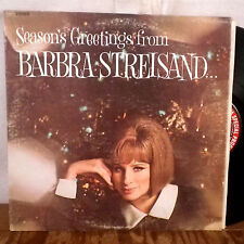 Season's Greetings from Barbra Streisand LP Columbia christmas maxwell house VG+