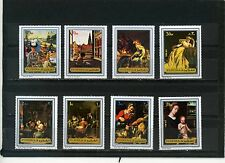 FUJEIRA 1972 Mi#1362-1369A PAINTINGS SET OF 8 STAMPS MNH