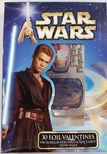 STAR WARS 30 Foil Valentines Cards and Seals VINTAGE HTF