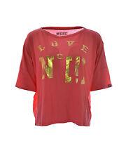 T-shirt donna IMPERFECT maniche corte collo ampio a giro vestibilità ampia PROMO
