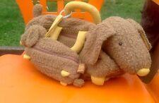 Moulin Roty Soft Puppy Dog Plush Baby Child Toddler Bag + Mini Bag Set *Rare*
