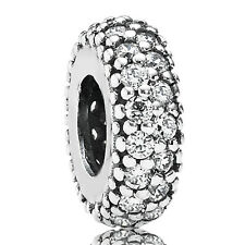 PANDORA Charm Spacer Element 791359 CZ Pavé Silber Bead