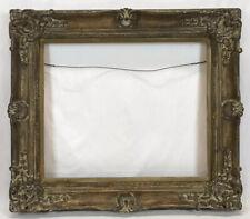 Vintage Mid 20th C Barbizon Baroque Dutch Ornate Gold Frame 20 x 24 Opening