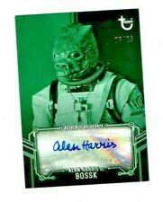 Topps Star Wars Esb B&W Green Parallel /25 Autograph Card Alan Harris Bossk