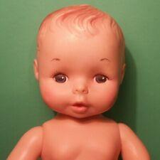 "Vtg Doll (Eegee 10"" Baby Boy) New Born Anatomically Drinks Wets Adam Real Eg"