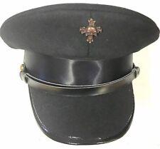Steampunk Laine Militaire Chapeau Avec Cuivre Crâne badge en taille 57,58,59cm