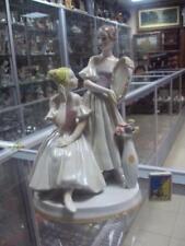 Soviet girls ballerina with a mirror ballet Russian porcelain figurine 7744c