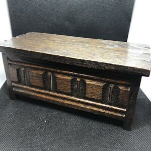 Beautiful Wooden Music Box, Styled as a 17th Century Chest, Working (A9)