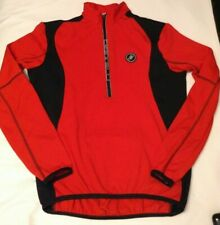 Castelli Red Pullover Fleece Cycling Jersey size Medium
